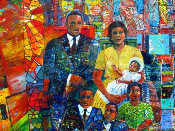 mlk family mural